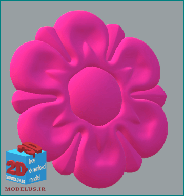 مدل تک گل سی ان سی و پرینتر سه بعدی