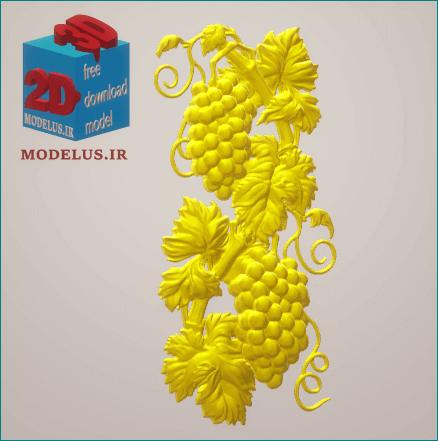 تابلو سه بعدی مدل شاخه های انگور