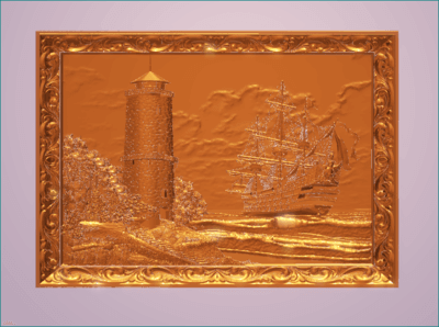 مدل سه بعدی تابلو فانوس دریای