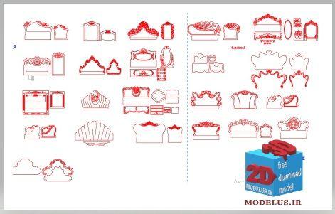 مدل تخت خواب و آینه001 مخصوص کورل دراو