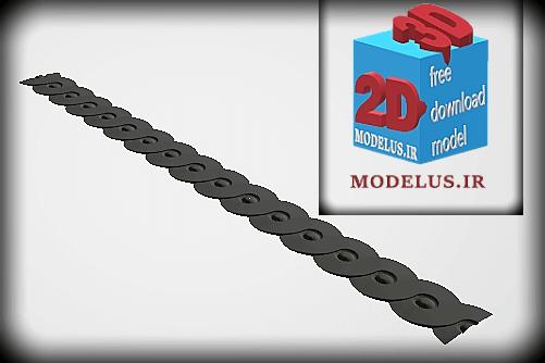مدل سه بعدی قرنیز زنجیری دایره
