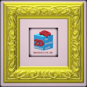 مدل قاب سه بعدی مربعی