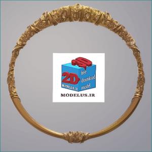 مدل قاب آینه دایره ی گل رز