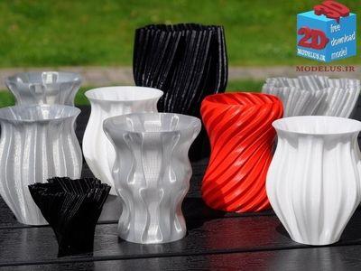 12 مدل گلدان برای پرینتر سه بعدی