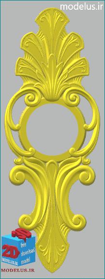 مدل ساعت سه بعدی طرح طاووس