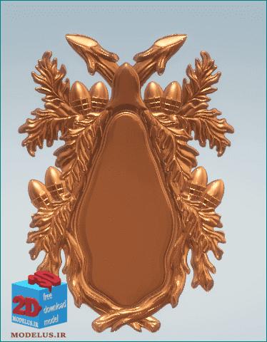 مدل آینه ی سه بعدی طرح بلوط