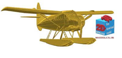 مدل تابلو هواپیما سه بعدی