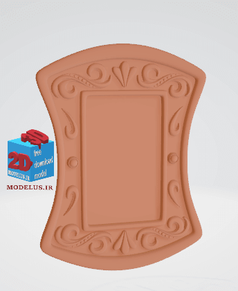 مدل قاب آینه ی هلالی سه بعدی