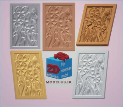 مدل تابلو گل سه بعدی