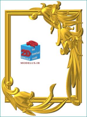 مدل قاب آینه گل پیچ