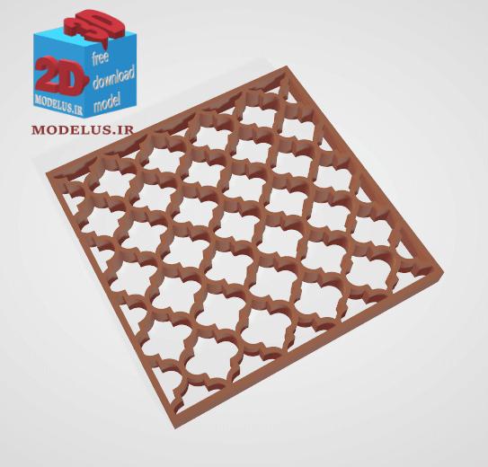 مدل مشبک سه بعدی اسلیمی