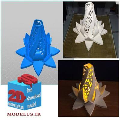 مدل سه بعدی گل شکفته روشنایی