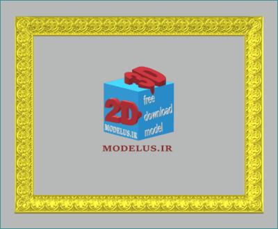 مدل قاب مستطیلی سه بعدی با کیفیت عالی