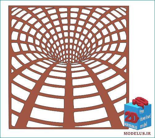 مدل تابلو مشبک سه بعدی