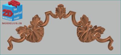 مدل سه بعدی حاشیه تاج