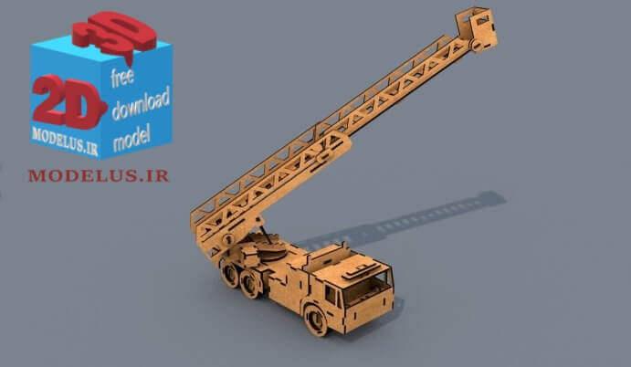 ماکت ماشین آتش نشانی laser model