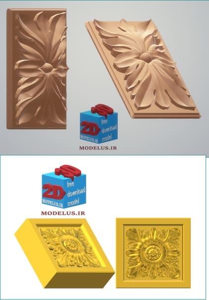 مجموعه مدل اجزائ تزئینی سه بعدی