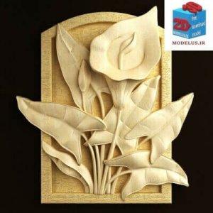 مدل تابلو سه بعدی گل شیپوری