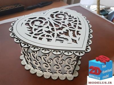 مدل جعبه ی قلب مخصوص لیزر