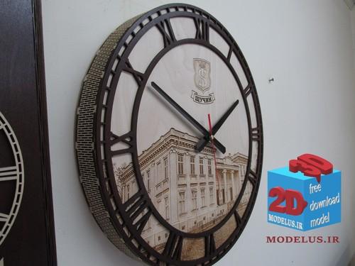 مدل ساعت لیزر برش دایره ای