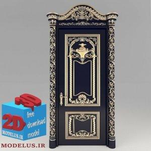 مدل سه بعدی درب منبت سلطنتی