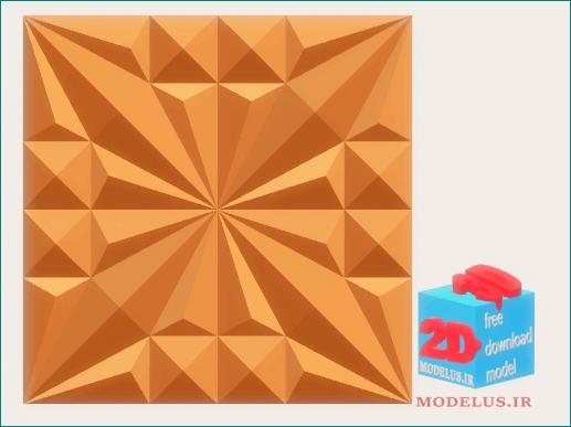 مدل پنل تکه ی سه بعدی