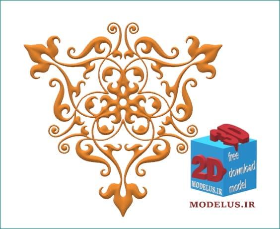 مدل گل مثلثی تزئینی سه بعدی