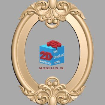دانلود مدل قاب آینه سه بعدی سرگل