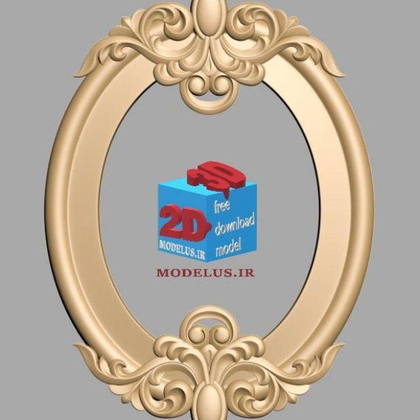 قاب آینه سه بعدی سرگل