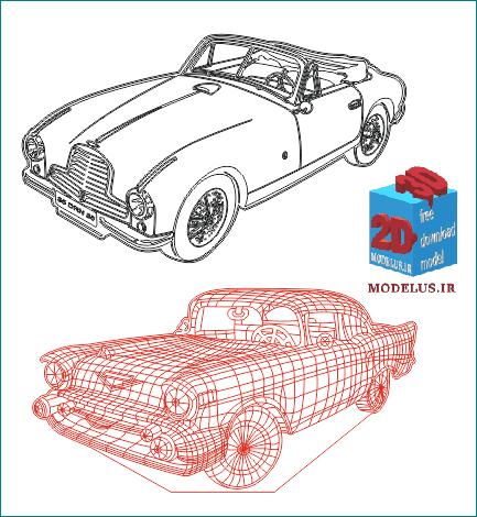 وکتور مجموعه مدل ماشین قدیمی