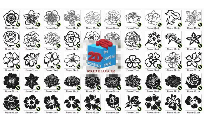 دانلود پک وکتور 58 مدل گل