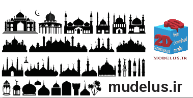وکتور انواع مدل مسجد