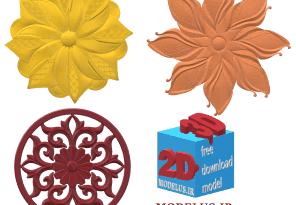 دانلود مجموعه مدل تک گل سه بعدی