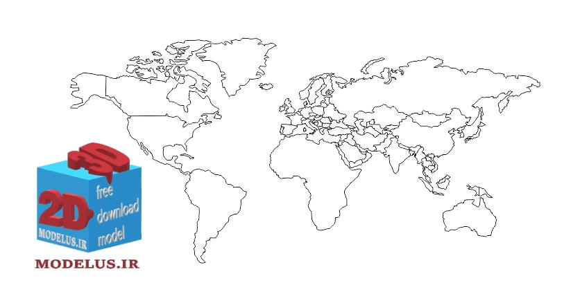 وکتور نقشه ی جهان