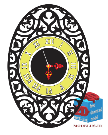 downoad top model clock cdr dxf