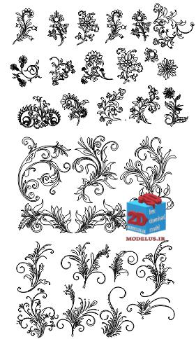 دانلود رایگان مجموعه گلهای حکاکی cnc