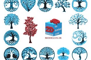 دانلود مجموعه وکتور تزئینی درخت
