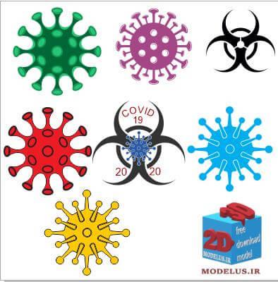 دانلود رایگان وکتور کرونا ویروس (covid 19 virus vector)