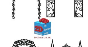 دانلود رایگان فایل برش مدل تاج درب ورودی