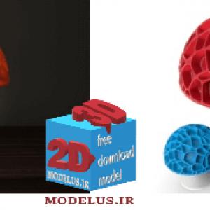 دانلود مدل پرینتر سه بعدی چراغ شب طرح قارچ