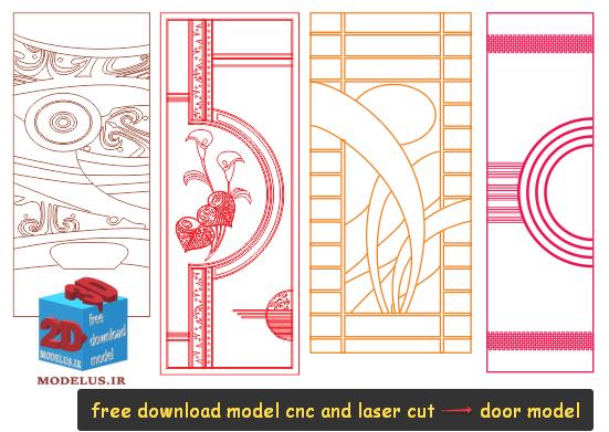 دانلود مدل درب حکاکی بسیار زیبا 0010 - cnc , lasercut