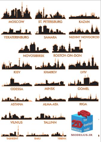 دانلود رایگان مجموعه وکتور شهرهای مختلف