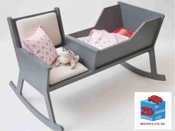 دانلود رایگان مدل گهواره و صندلی متصل