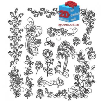 دانلود رایگان وکتور مجموعه گل رز