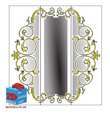 دانلود مدل درب کمد دیواری فوق العاده زیبا در کار (2)