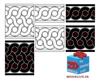 دانلود وکتور باند دایره ای برای تزئنین طرح