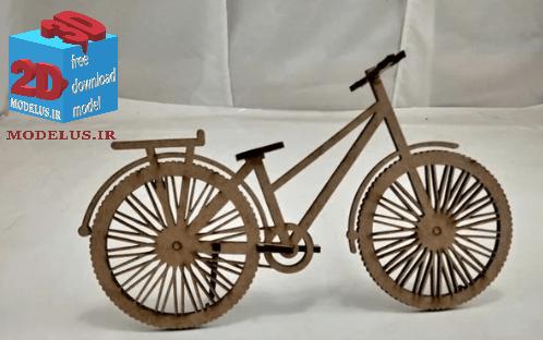 دانلود وکتور ماکت دوچرخه لیزربرش 020