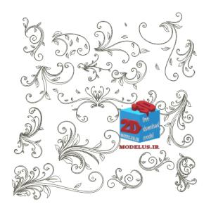 دانلود وکتور گل هلالی مخصوص حکاکی