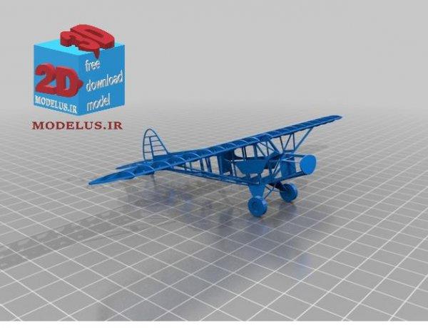 فایل ویژه لیزربرش هواپیما مینیاتوری کد 003