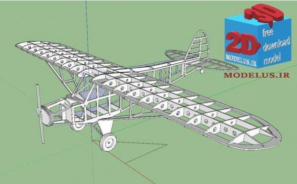 فایل ویژه لیزربرش هواپیما مینیاتوری کد 003 (9)